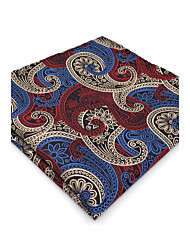 BH12 Mens Hanky Multicolor Paisley 100% Silk Business Casual Jacquard Woven For Men