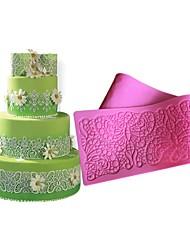 Butterflies Decoration Lace Mat Lace Fondant Mold Sugar Lace Silicone Pad for Wedding cakeFlower Shape Fondant Lace Mold LFM-36