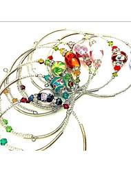 Браслеты Браслет разомкнутое кольцо Медь Стекло Мода Для вечеринок Повседневные Бижутерия ПодарокЧерный Серебряный Красный Синий Зеленый