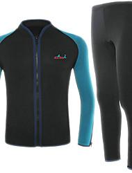 BlueDive® Unisexe 2mm Costumes humides Wetsuits complets Garder au chaud Séchage rapide Zip frontal Vestimentaire Sans couture DouxNylon