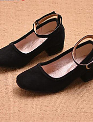 Girl's Heels Comfort PU Casual Black Red