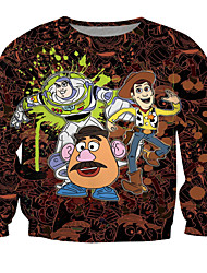 Festival/Holiday Halloween Costumes Brown Print T-Back Unisex Polyester
