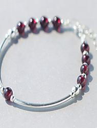 Bracelet Strand Bracelet Sterling Silver Love Birthstones Birthday Jewelry Gift Silver,1pc