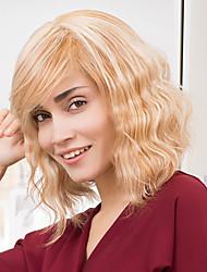 encanto peinados bob hasta los hombros sin tapa cabello humano pelucas ombre humano de la onda natural de mezcla de pelo para las mujeres