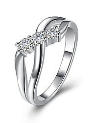 Anéis Diário Jóias Prata Chapeada Anel 1peça,7 8 Prateado