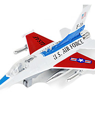 Planes & Helicopters Push & Pull Toys 1:10 Metal Red Blue Yellow Gray