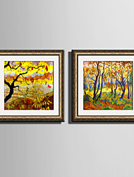 E-HOME® Framed Canvas Art The Golden Woods Framed Canvas Print One Pcs
