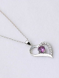 Women's Pendants Crystal Sterling Silver Simulated Diamond Heart Fashion Silver Jewelry Daily Casual 1pc