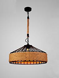 Vintage Industrial Hemp Rope Loft Pendant Lights Metal Living Room Dining Room Kitchen Bar Cafe Light Fixture