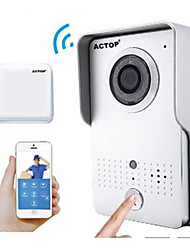 ACTOP Smart Home Security Wifi Video Doorbell Intercom Alarm Function Suppot IOS And Andriod  WIFI602