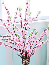 1pc High-grade Fake Dry Flower Peach Blossom Branch Tabletop Flower