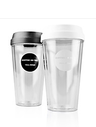 Transparent Classic To-Go Drinkware, 420 ml Portable BPA Free Plastic Coffee Water Tumbler