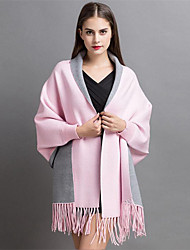 Women's Casual/Daily Street chic Long Cardigan,Solid Blue / Pink / Red / Gray / Rayon / Nylon Fall / Winter