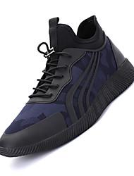 Femme-Sport-Noir Bleu Rouge-Talon Plat-Confort-Chaussures d'Athlétisme-Tissu
