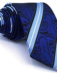 B8 Men's Necktie Tie Blue Paisley 100% Silk Business Fashion Wedding For Men