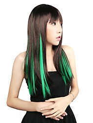 neitsi 10pcs 18inch point culminant de couleur synthétique clip sur en extensions de cheveux verts