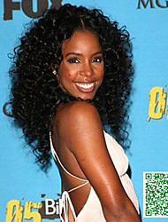 250 Density Glueless Full Lace Wig Virgin Mongolian Kinky Curly Human Hair Wigs/Lace Front Wig For Black Women