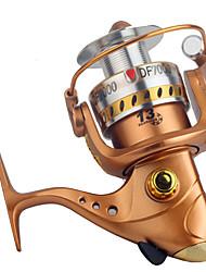 Moulinet pour pêche Moulinet spinnerbaits 2.6:1 13 Roulements à billes Echangeable Pêche générale-DF GOLD