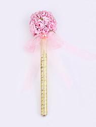nouveau ruban balle mariage signature partie stylo marqueur stylo fleur à la main pur (recharge or)