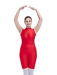 Ballet Unitards Women's Children's Training Nylon Lycra Buttons 1 Piece Sleeveless Leotard