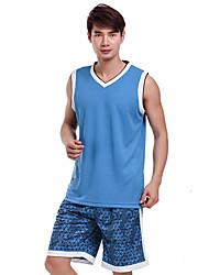 Men's Sleeveless Basketball Clothing Sets/Suits Baggy Shorts Breathable Comfortable