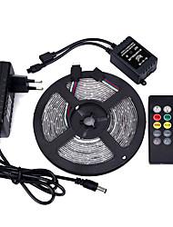 5m 3528 300 SMD IP44 100-240V rgb ac com 20 teclas de música controle remoto de energia 12v 3a oferta