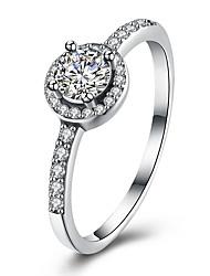 Ringe Hochzeit Party Alltag Normal Schmuck Sterling Silber Kubikzirkonia Strass Ring 1 Stück 1 Paar,6 7 8 Silber