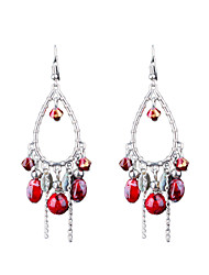 Retro Folk Style Long Temperament Handmade Beads Earrings