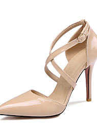 Sandals Summer Club Shoes Patent Leather Wedding Dress Party & Evening Stiletto Heel Buckle Black Yellow Pink White Beige Other