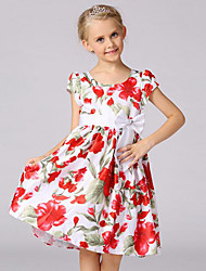 Girl's Casual/Daily Party/Cocktail Solid Patchwork DressPolyester Mesh Summer Sleeveless