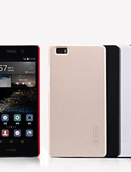 Pour Coque Huawei P8 Etuis coque Dépoli Coque Arrière Coque Couleur unie Dur Polycarbonate pour Huawei Huawei P8