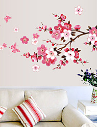1Pcs 150Cm*60Cm  Cherry Blossom Wall Poster Waterproof Background Sticker For Bedroom Cafe Wall Stickers Home Decor