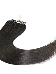 Top Quality Micro Loop Ring Beads Hair extensions 7A Brazilian Virgin Hair Silky And Smooth Straight Peruvian Hair Micro Loop Ring Hair Extensions