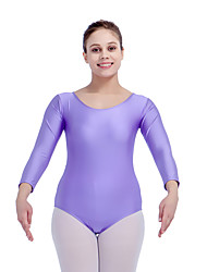 Ballet Leotards Women's Children's Training Nylon Lace Lycra Lace Splicing 1 Piece Long Sleeve Leotard