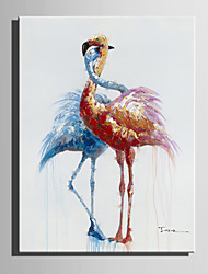 Mini Size E-HOME Oil painting Modern Love  Of The Crane Pure Hand Draw Frameless Decorative Painting