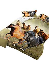 Fantaisie Ensembles housse de couette 4 Pièces Polyester 3D Imprimé Polyester Lit 2 Places 'Queen'1 pièces (1 housse de couette, 1 drap,
