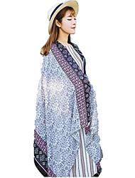 Women Shawl Floral Silk Scarf
