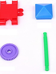 DIY KIT Building Blocks For Gift  Building Blocks Novelty Toy Square Plastic 2 to 4 Years 5 to 7 Years Rainbow Toys