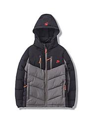 m de espessura de inverno tampa destacável bolso com zíper casaco jovem matagal mens jaqueta