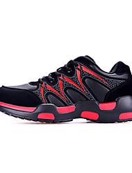 Feminino-Tênis-par sapatos-Salto Baixo-Verde Vermelho Azul Real-Couro Ecológico-Para Esporte