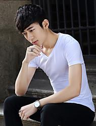Spot Männer&# 39; s kurze Hülse V-Neck T-Shirt auf mitfühlende Kurzhülse Baumwolle Männer nehmen koreanische Version Hemd grundiert