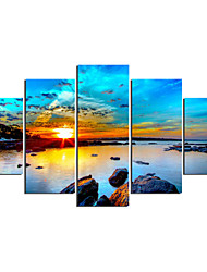 Stretched Canvas Print Landscape Modern Classic,Five Panels Canvas Any Shape Print Wall Decor For Home Decoration