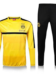 Unisex Soccer Clothing Sets/Suits Breathable Comfortable Summer Solid Terylene Football/Soccer Yellow Black