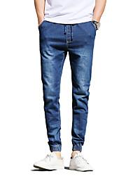Hommes Grandes Tailles Mince Jeans Chino Pantalon,Vintage simple Street Chic Décontracté / Quotidien Couleur Pleine Taille Basse Cordon