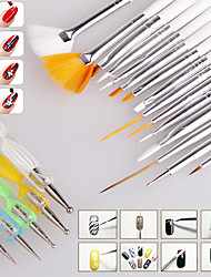 Manicure White Pole 15 Pen  5 Spiral Drill Point