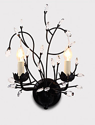 lightmyself 2 feux appliques murales noir e12 e14 fonctionnalité moderne / contemporaine traditionnelle / classique rustique pays / lodge
