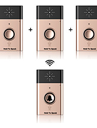 Wireless Voice Doorbell Support Indoor and Outdoor Voice Intercom Up to 300ft Work Range One Trasmitter and Three Receivers