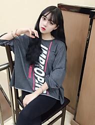 signer étudiants korean solides chandail femelles lettres de couverture imprimés lâche marée veste décontractée
