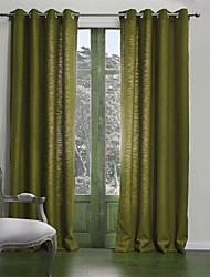 Dois Painéis Tratamento janela Neoclassicismo , Sólido Sala de Estar Poli/Mistura de Algodão Material Cortinas cortinasDecoração para