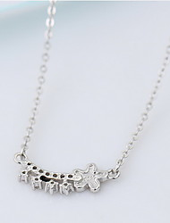 Women's Pendant Necklaces Jewelry Flower Sterling Silver Flower Style Jewelry For Daily Casual
